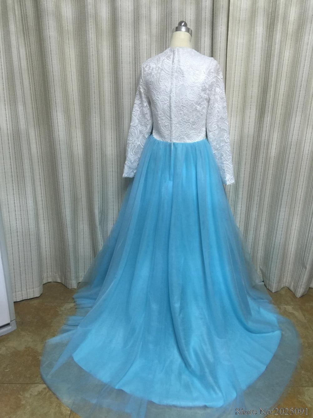 2018 Muslim Evening Dresses Lace Long Sleeves Islamic Dubai Abaya ...