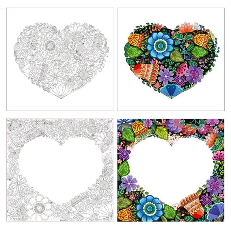 8Pcs Set Mysterious Garden Hand painted Decompression Coloring Book Student Children Painting Graffiti Drawing Books in Books from Office School Supplies