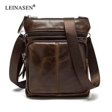 BAILLR Brand Men Genuine leather Crossbody Shoulder bag High quality fashion design men messager bags luxury brand for mini ipad
