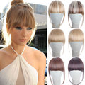 False Hair Bangs on the Rim Fringe Hair Bang Extension 6inch Hair Clips on Women Fake Bangs Front Hair Extensions Clip Hairpiece