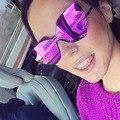 Afofoo new sin montura moda cat eye sunglasses primera marca de lujo mujeres gafas de sol de espejo femeninos uv400 shades gafas
