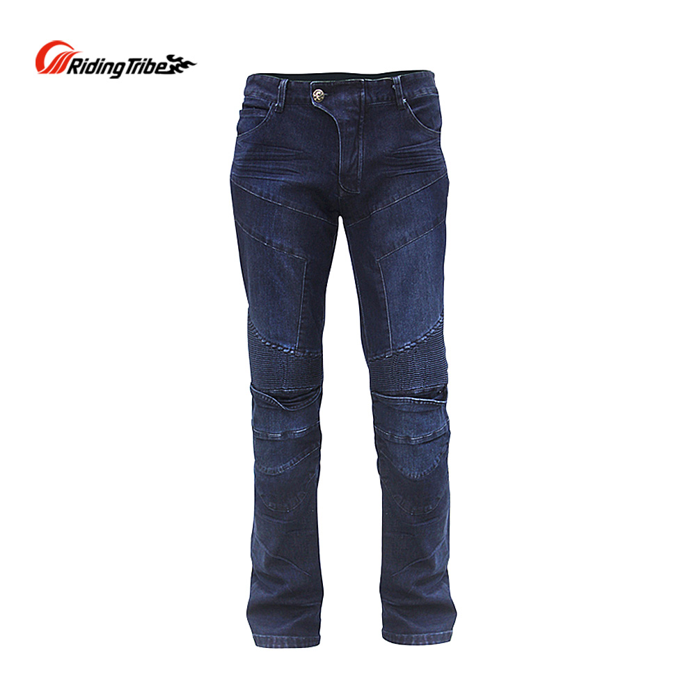 Riding Tribe Motorcycle Men's Biker Jeans Motocross Off-road Racing Pants Breathable Knee Protective Gear Moto Trousers HP-03 riding tribe men s motorcycle jeans slim fit protective motocross pants motorbike racing breathable stretch biker pants hp 05