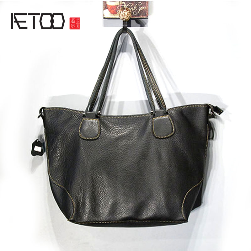 AETOO   High-grade leather hand-section ultra-soft imported leather women's hand Messenger bag leather handbags 100g bag vitamin b8 food grade 2% usa imported