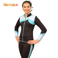 Özelleştirilmiş Şekil Paten Elbise Ceket ve Pantolon Uzun Pantolon Kız Kadınlar için Eğitim Patinaje Buz Pateni Sıcak Jimnastik 9