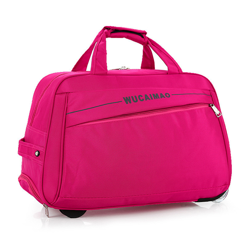 Rolling Luggage Trolley Bag Women Travel Bags Metal Hand Trolley Female&male Bag Large Package Travel Suitcase
