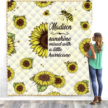 SOFTBATFY Sunflower Turtle Kids Quilt For Adult Bed Soft Warm Blanket Dropshipping