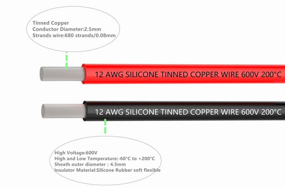 Electrical wire 12 awg silicone wire 12 gauge hook up wire cables 3 electrical wire 12 awg silicone wire 12 gauge hook up wire cables 3 m black and 3 m red soft and flexible of tinned copper wire in wires cables from keyboard keysfo Choice Image