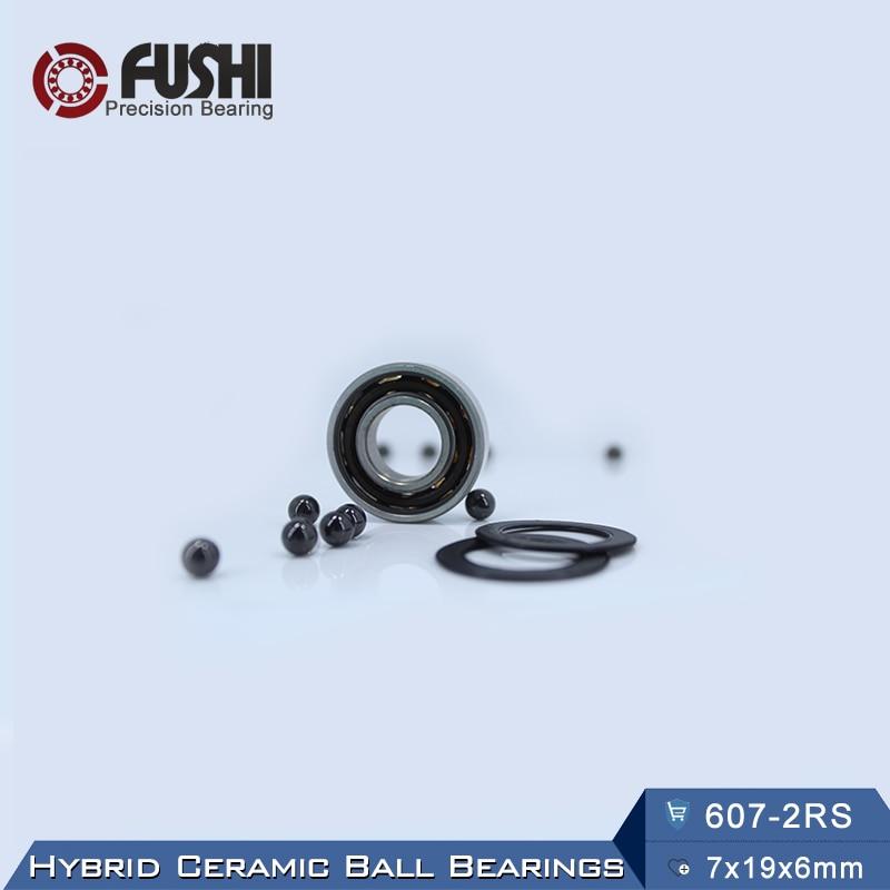 607 Hybrid Ceramic Bearing 7*19*6 mm ABEC-1 ( 1 PC) Industry Motor Spindle 607HC Hybrids Si3N4 Ball Bearings 3NC 607RS топор truper hc 1 1 4f 14951