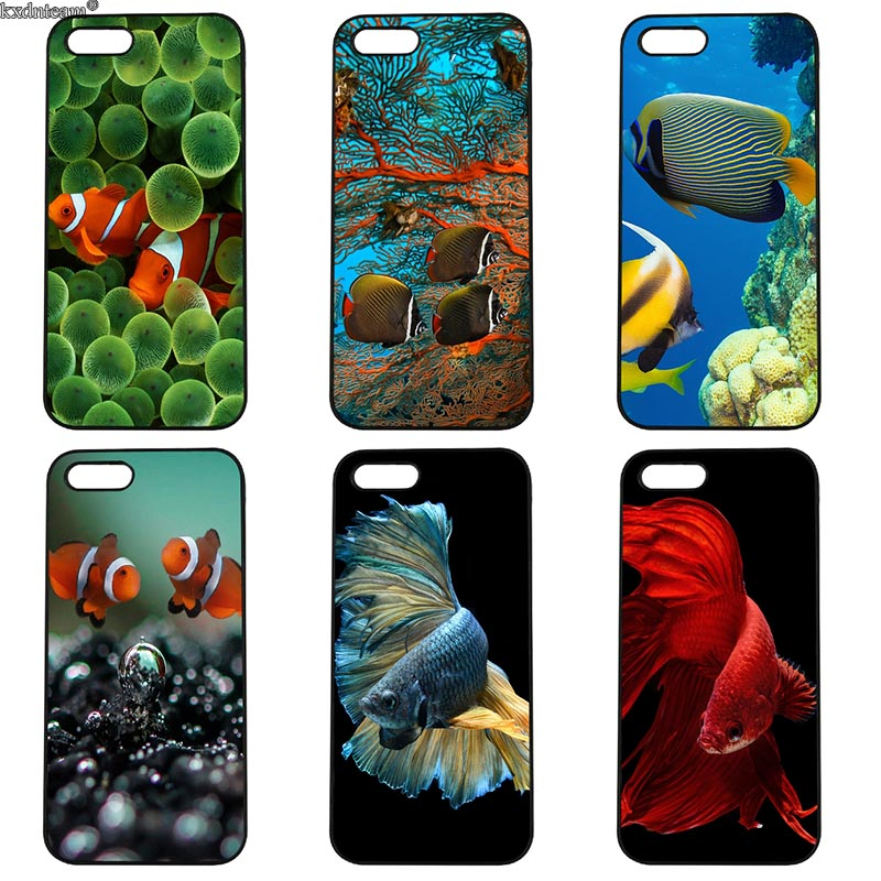 Underwater Fish World Mobile Phone Case Hard PC Plastic Cover for iphone 8 7 6 6S Plus X 5S 5C 5 SE 4 4S iPod Touch 4 5 6 Shell