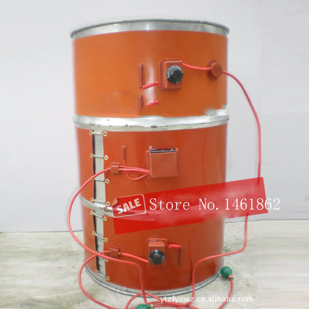 150X1740mm 1000 W 220 V, di calore universale flessibile olio di silicone tamburo riscaldatore riscaldatore di calore tamburi pellicola di riscaldamento flessibili