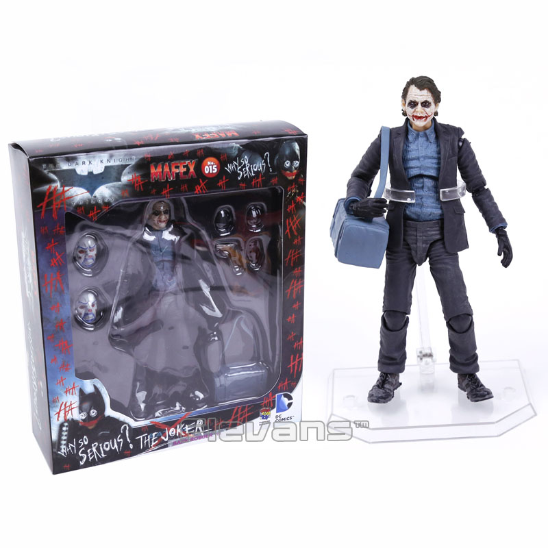 MAFEX NO.015 Batman The Dark Night The Joker PVC Action Figure Collectible Model Toy 15cm batman new 52th ver action figure 1 8 scale painted figure black knight pvc action figure collectible model toy 18cmkt3356
