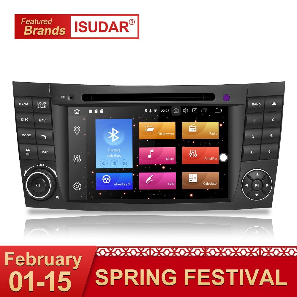 Isudar Auto dvd automotivo Lettore 2 Din Android 8.0 GPS Per Mercedes/Benz/E-Class/W211 /CL 8 Core 4 GB di RAM Wifi Radio am fm