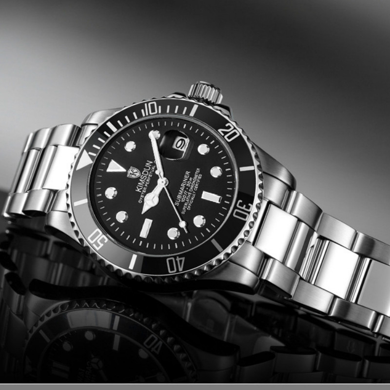 KIMSDUN Luxury Brand Men Military Sport Watches Men's Quartz Clock Full Steel Waterproof Date Business Wristwatch Reloj Hombre