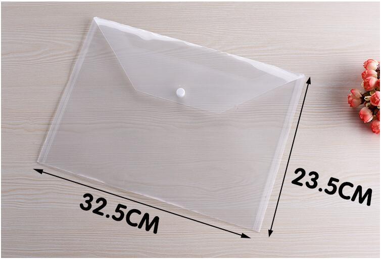 Great Transparent Plastic A4 Folders File Bag 200PCS/Lot Document Hold Bags Folders Filing Paper Storage Office School Supplies