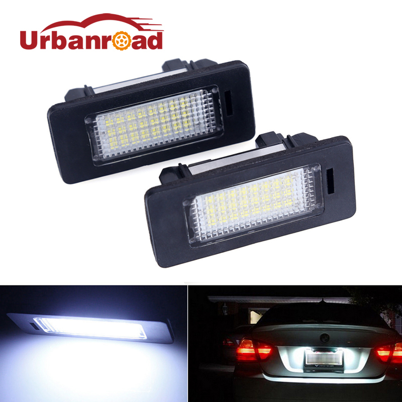 2pcs 24 SMD car led license plate light lamp For BMW E90 E82 E92 E93 M3 E39 E60 E70 X5 E39 E60 E61 M5 E88 2pcs set led license plate light error free for bmw e39 e60 e61 e70 e82 e90 e92 24smd xenon white free shipping