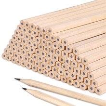 100pcs/set Wholesale Standard Pencil HB/2B Non-toxic QSHOIC stationery Lot Wood Pencils for School