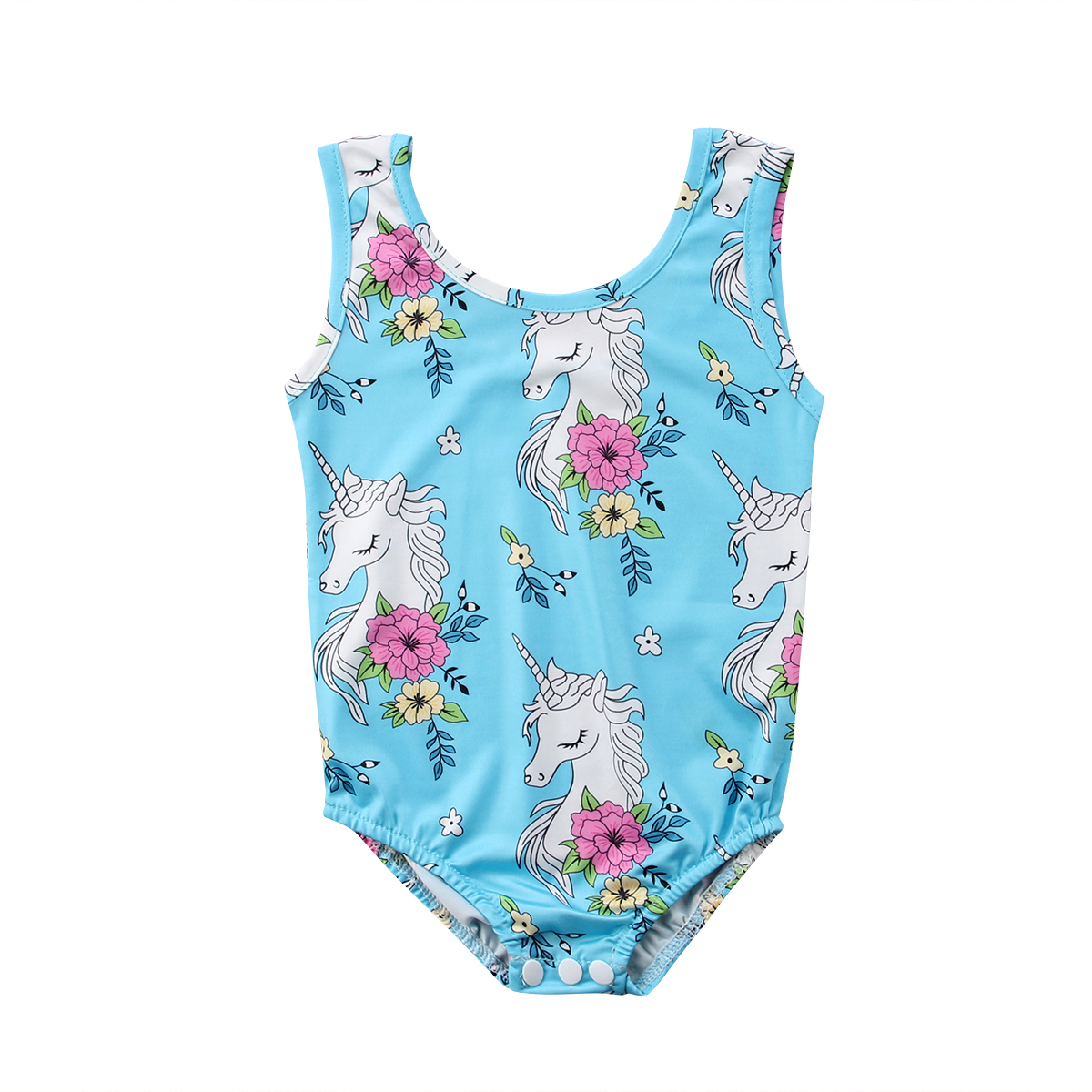 All in one swimsuits for baby girl-3688