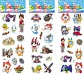 6pcs Lovely Yokai watch Cartoon PVC tattoo sticker 21.5*7.5cm 3 stylesYo-kai watch temporary tattoo Bubble stickers