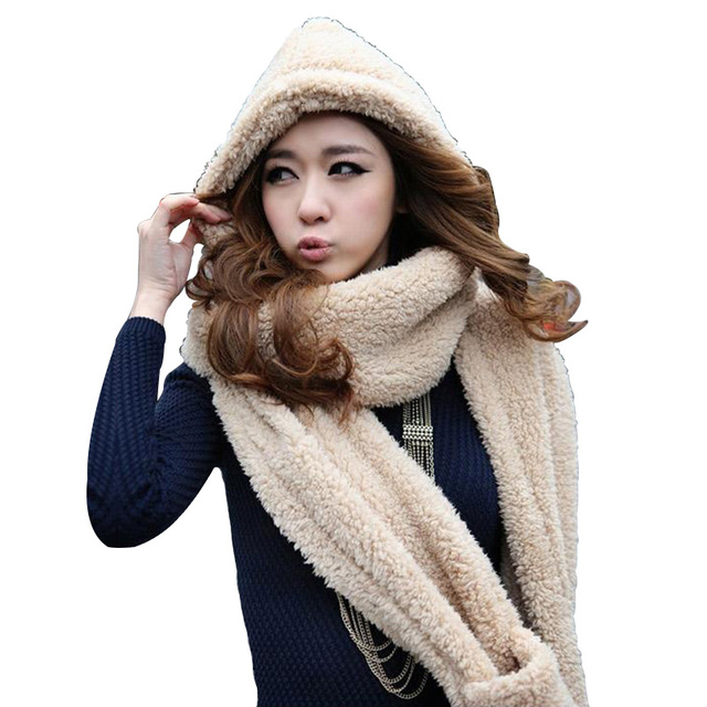 7c4b7eb99f92e 2018 New Thick Velvet Hat Gloves And Scarf Set Women s Winter Gift Faux Fur  Scarf Caps