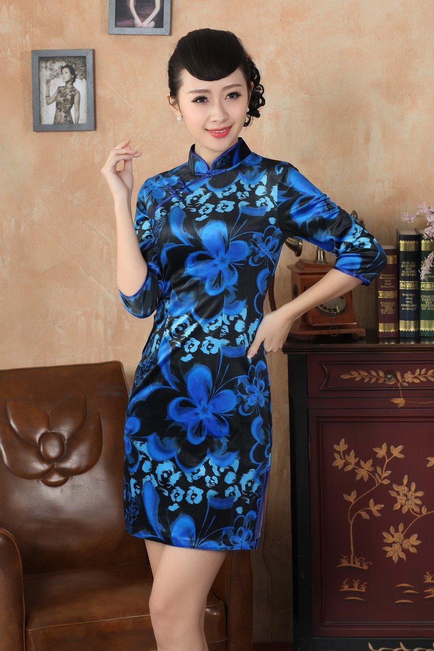 Xxl Livraison De M Arrivée Vente Cheong Gratuite 175 Velours Robe Chinois Soie S Style Chaude L Tradition Xl Femmes Nouvelle Sdnew sam rwvrqH