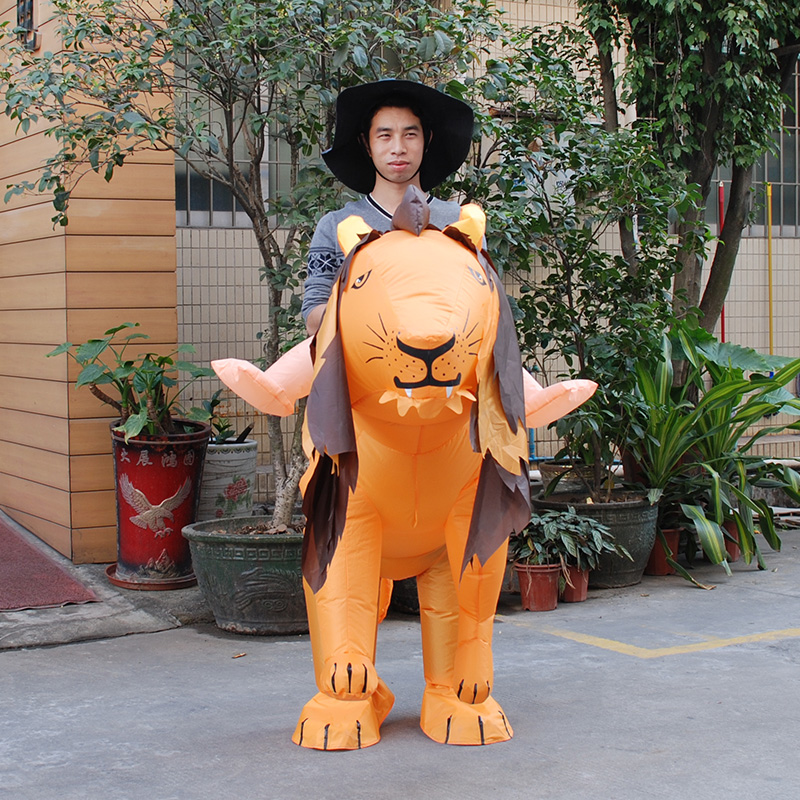 INFLATABLE LION FANCY DRESS COSTUME SAFARI HEN STAG OUTFIT kigurumi Halloween Costume for Women/Men Inflatable Tiger Costume-in Movie & TV costumes from Novelty & Special Use    2