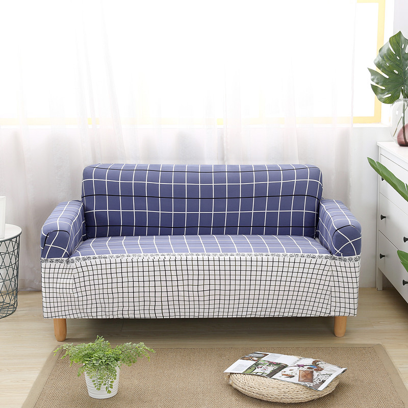 Blanket Sofa Cover: HOT Plaid Sofa Cover On The Stretch Sofa Cushions Home