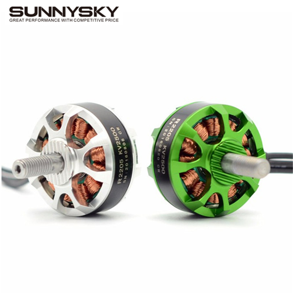 1pcs Sunnysky R2205 2300KV/2500KV Brushless Motor 2CW 2CCW for FPV Racing Quadcopter Drone Multicopter 4pcs sunnysky r2205 2300kv 2500kv brushless motor 2cw 2ccw for kv2300 kv2500 motor fpv racing quadcopter drone multicopter diy
