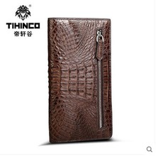 tihinco real Crocodile leather hand bag leather men handbags business male  tide male hand caught long bag men clutches