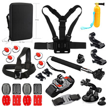 SHOOT Traveling Surfing Accessory Set for GoPro Hero 5 4 3 SJCAM Yi 4k Eken Action Camera With Monopod Float Grip Strap Mount