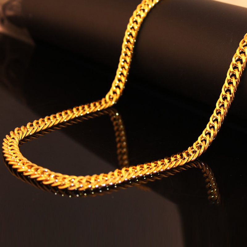 US $2 9 |HOT NEW Hip hop jewelry bling fashion rapper hiphop Gold color  80cm long Necklace brand men link hot sell-in Chain Necklaces from Jewelry  &