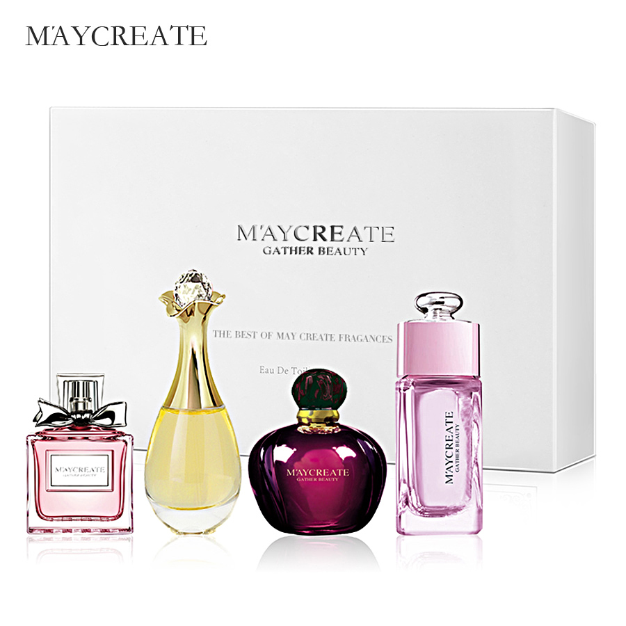 MayCreate 1Set Perfumed Bottle For Women Lasting Fragrance Parfumed Women Spray Bottle Glass Fashion Lady Flower Female