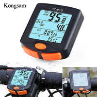 Wireless Bike Computer Speedometer Odometer Rainproof Cycling Bicycle Computer Thermometer Backlight Counter Display Speedometer