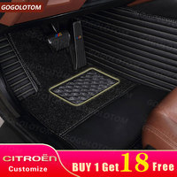 Custom Car Floor Mats Waterproof Citroen C5 C4 Air Cross Aircross Picasso Grand C2 C4L DS5 LS DS6 Auto SUV Car Styling Carpet