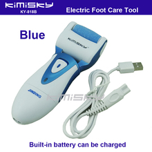 Blue USB smooth strong electric pedicure tool /  rechargeable waterproof Foot Care Tool +1pcs For scholls funcdion roller heads