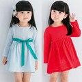 2016 Niñas Vestido de Ropa Vestidos niños Vestido infantil Otoño Vestidos de Manga Larga Chica Disfraz Infantil Traje de La Princesa Linda