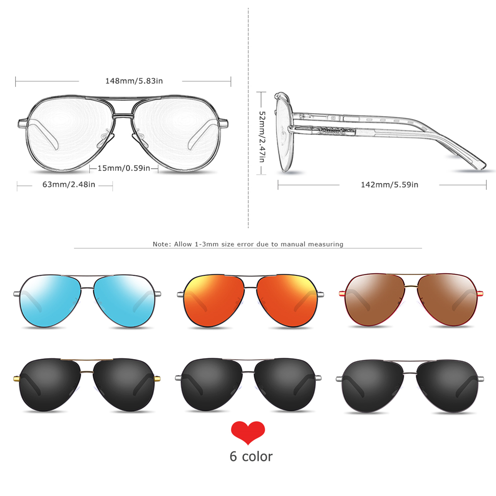 BARCUR Aluminum Magnesium Men's Sunglasses Men Polarized Coating Mirror Glasses oculos Male Eyewear Accessories For Men 4
