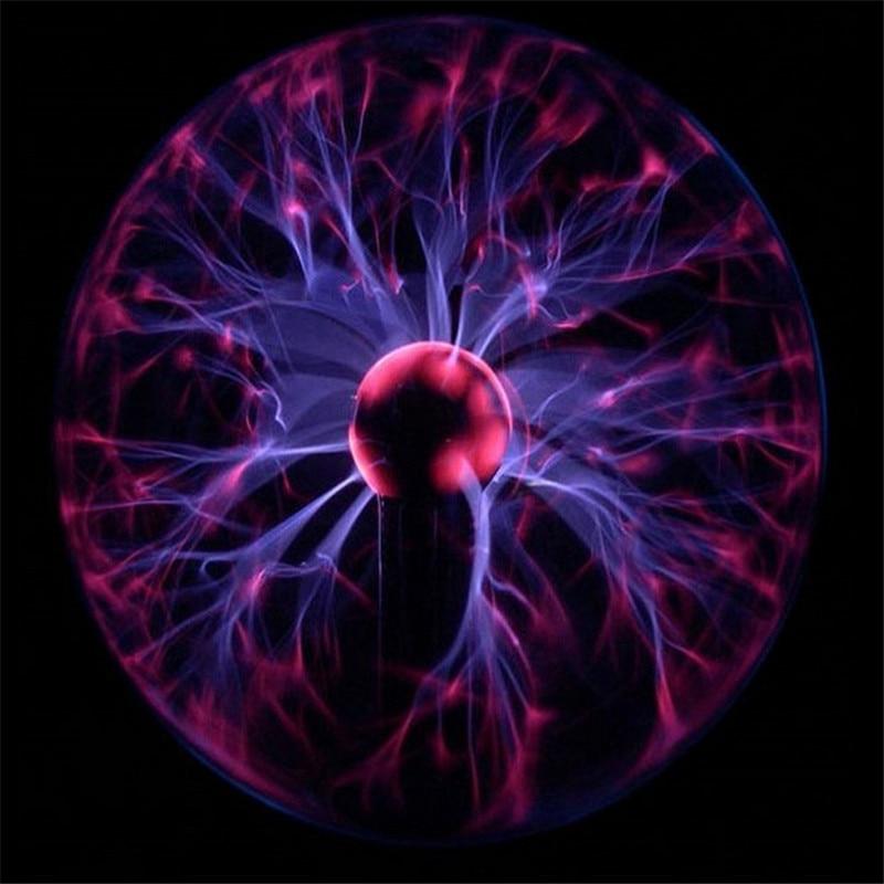 Glass Lava Lamp Led Night Light Tesla Ball Novelty Lighting Usb ...