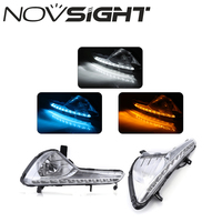 NOVSIGHT Auto LED DRL Daytime Running Light Driving Lamp White Yellow Blue For KIA Sportage R 2010 2013 D20