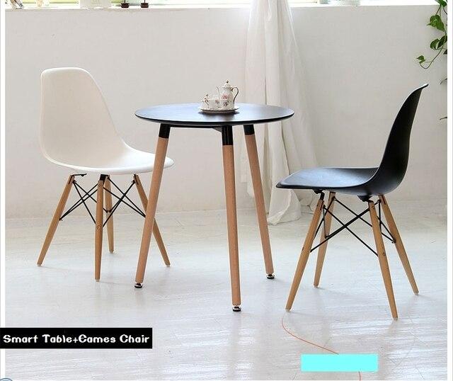 Us382 Festen Nordic Tisch Chat Tische Einfach Weiß 5chat Und Quadratischen Ikea Runde Casual Kleine In Von Kombination Holz Stühle 4jLq35AR