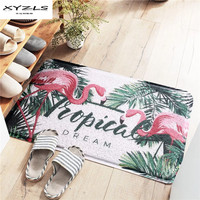 XYZLS 2018 PVC Floor Mat Anti slip Flamingo Printed Doormats for Living Room Bedroom Carpets Kitchen Rugs 1Piece
