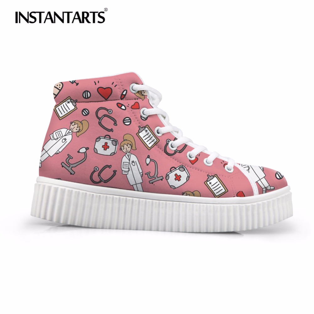 Instantarts Corgi Mermaid Print High Top Sports Canvas Shoes Kids Running Walking Shoes Cute Girls Flat Boys Students Sneakers Athletic Shoes Mother & Kids