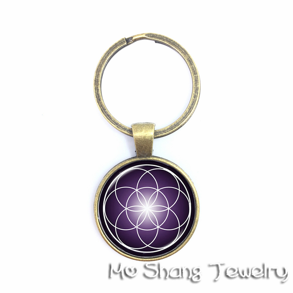 Ball Lover Charm Glass Cabochon Key Chain Pendant Accessories Jewelry Gifts