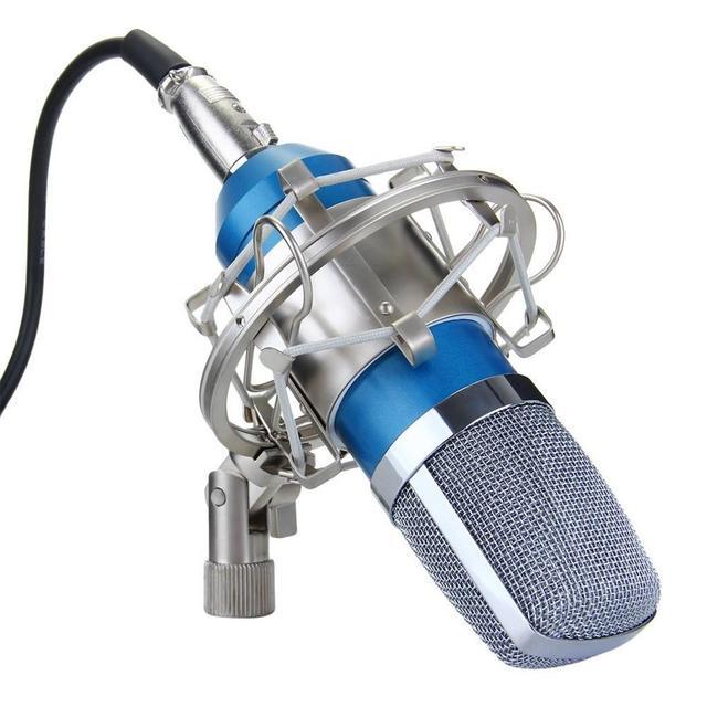 BM-700 מקצועי סטודיו מיקרופון הקלטת קול שידור הקבל מיקרופון חוטית מיקרופון KTV מיקרופון + הלם הר אנטי