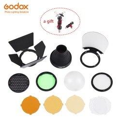 Godox okrągła głowica błyskowa AK R1 zestaw akcesoriów  AK-R1 Mini fotografia części zamienne do Godox AD200 / H200R / Godox V1