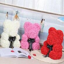 Romantic Birthday Gift for Girlfriend Rose Bear 25cm Rose Bear Dog Rabbit Wedding Decoration Anniversary Valentine's Day Present