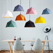 Anhänger Lichter Eisen Anhänger Lampe Minimalismus Nordic Hanglamp Geometrische Einzigen Kopf Für Restaurant Cafe Home Suspension Leuchte