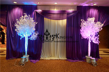 Ivory And Purple Color Wedding Backdrop  Background Curtain