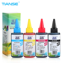 TIANSE high quality 100ml Color universal Dye Ink refill kit refillable for HP printer for canno for brother ink cartirdges ciss