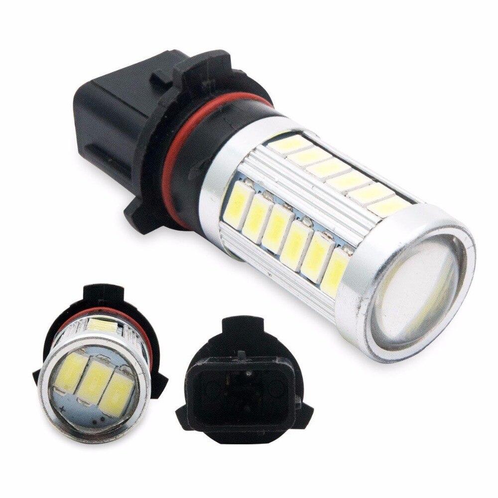 Maso 2x P13W Xenon White Fog light Blubs 33SMD Super Bright Daytime Running Lights 12V