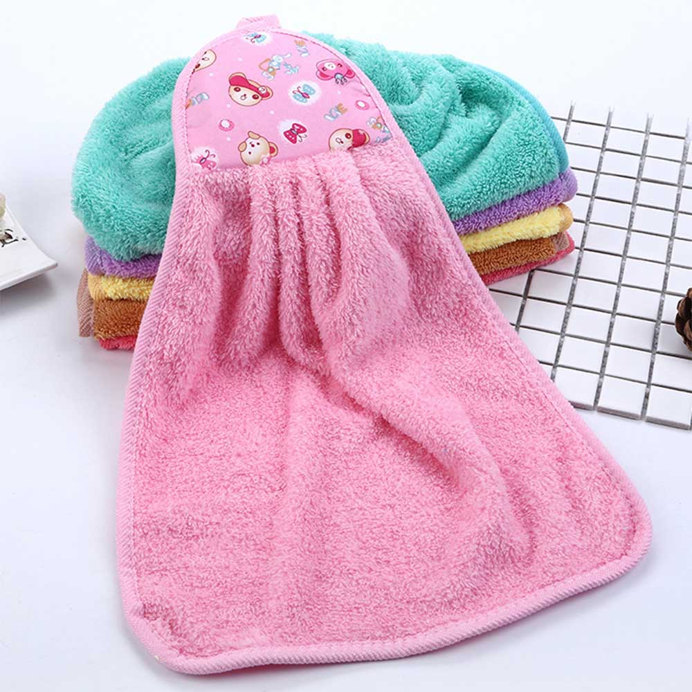 Cartoon Bear Towel Hand Tower Hand Dry Towel Clearing Lovely Colorful Animal Towel For Kitchen Bathroom Office Car Use